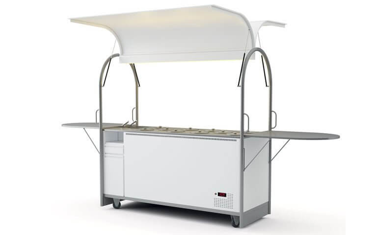 Wózek do lodów tradycyjnych – 10 kuwet