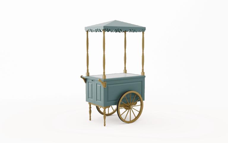 Wózek drewniany M