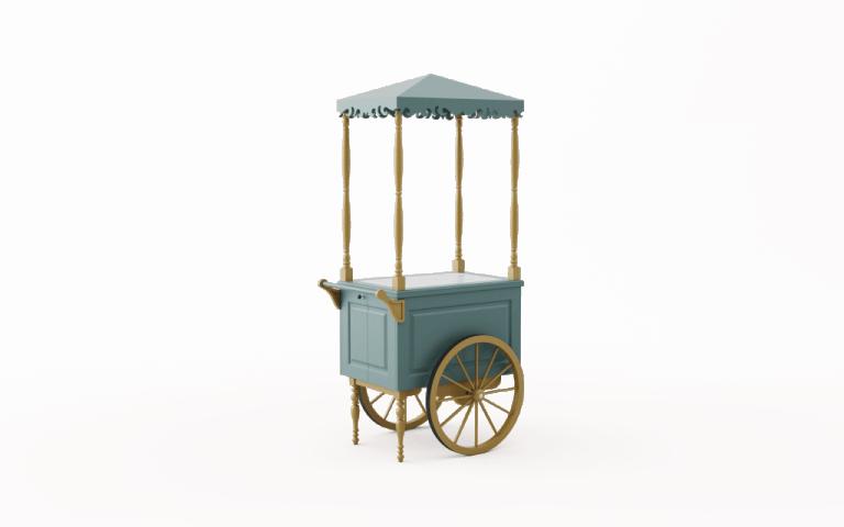 Wózek drewniany S