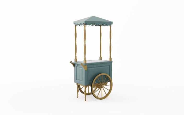 Wózek drewniany XS