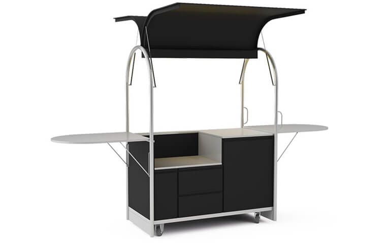 Mobile cart with space for devices 1500