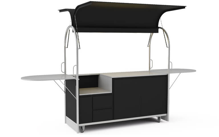 Mobile cart with space for devices 2000