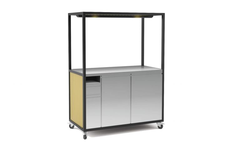 Corrugated sheet food cart 1500