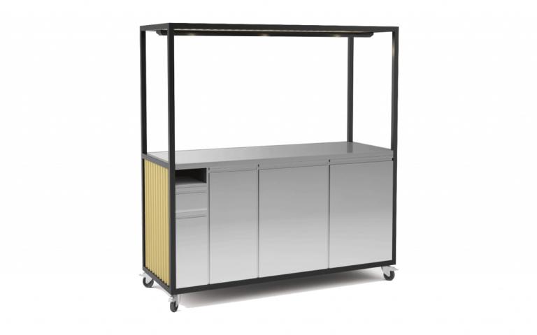 Corrugated sheet food cart 2000